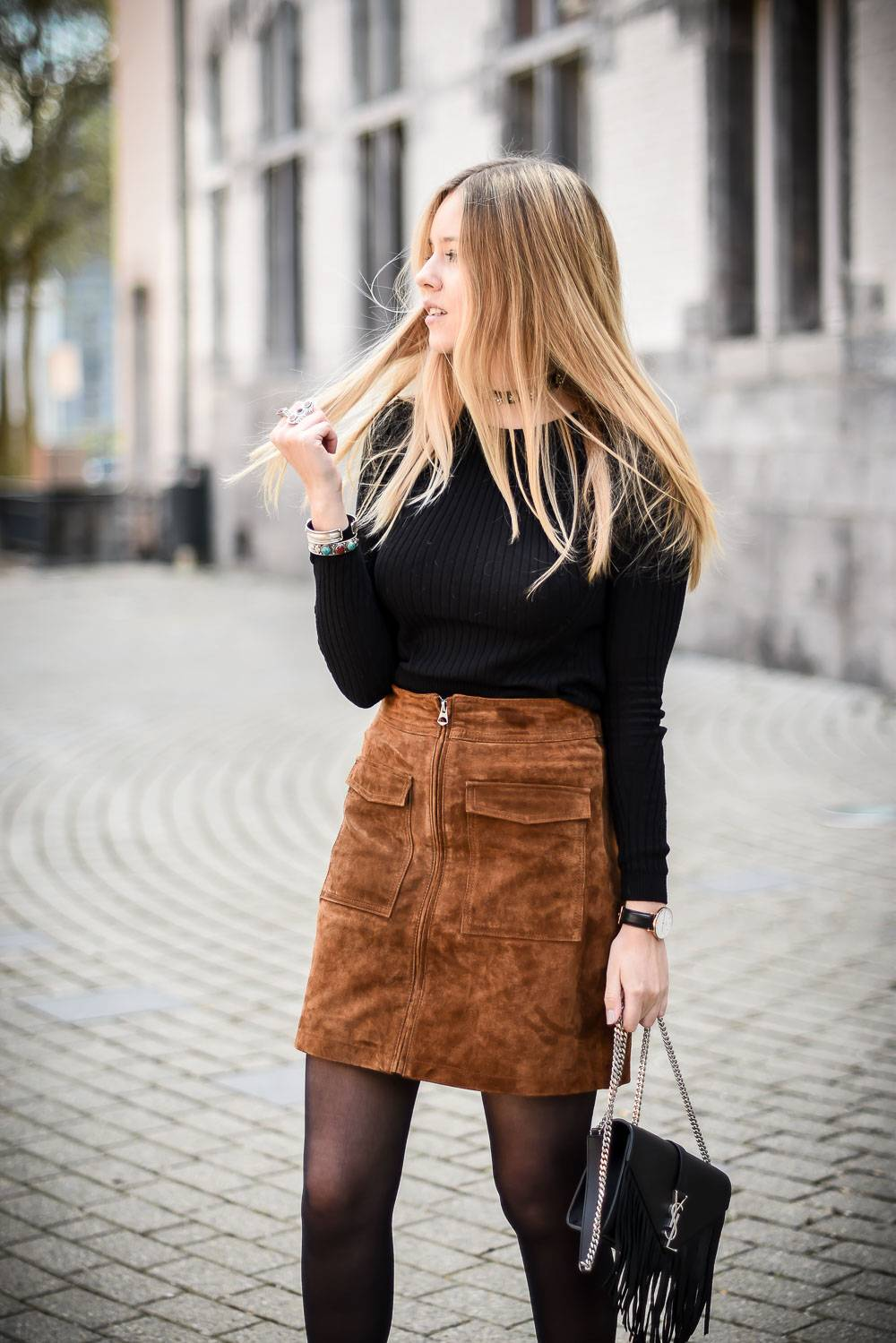 Blog mode jupe en daim - 12