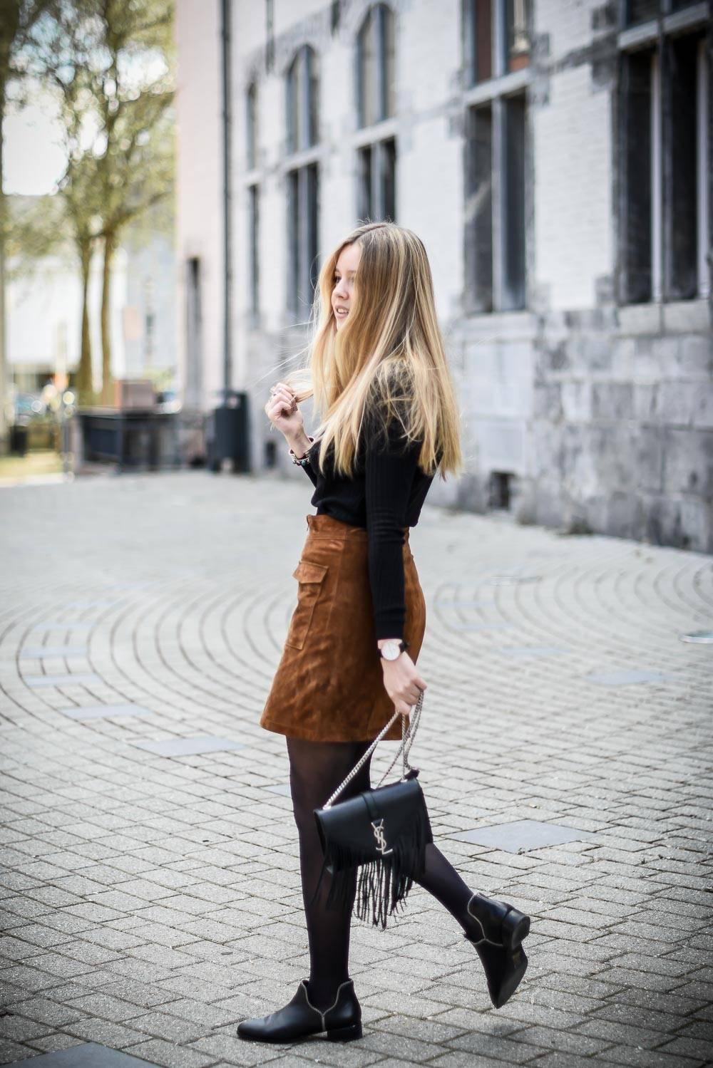 Blog mode jupe en daim - 13