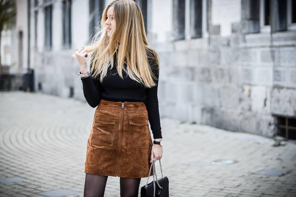 Blog mode jupe en daim - 15