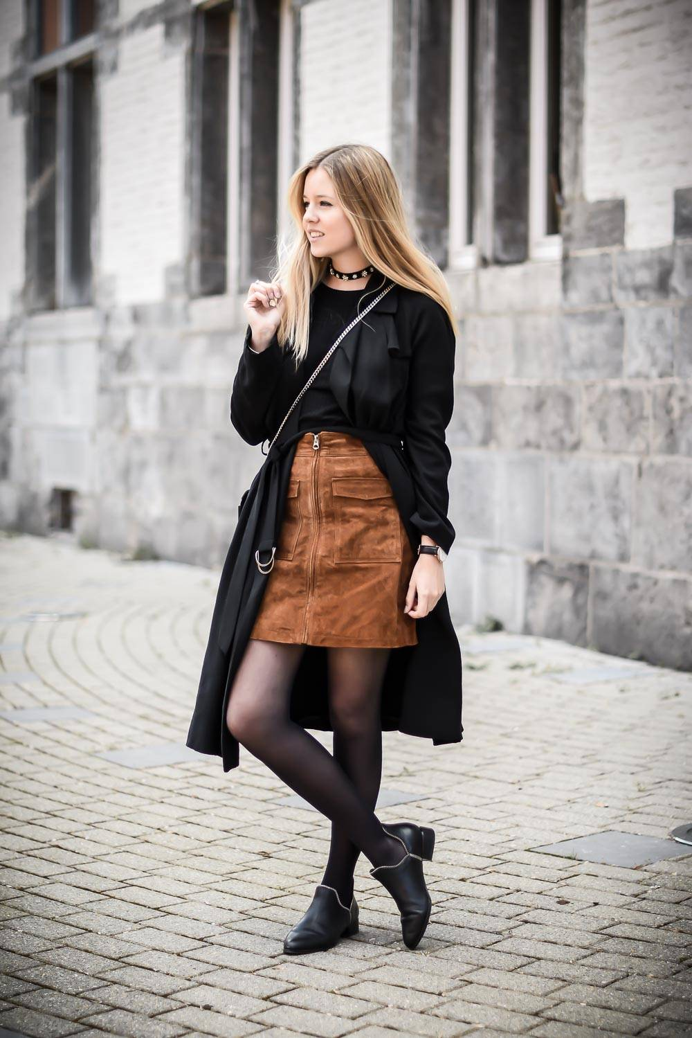 Blog mode jupe en daim - 3