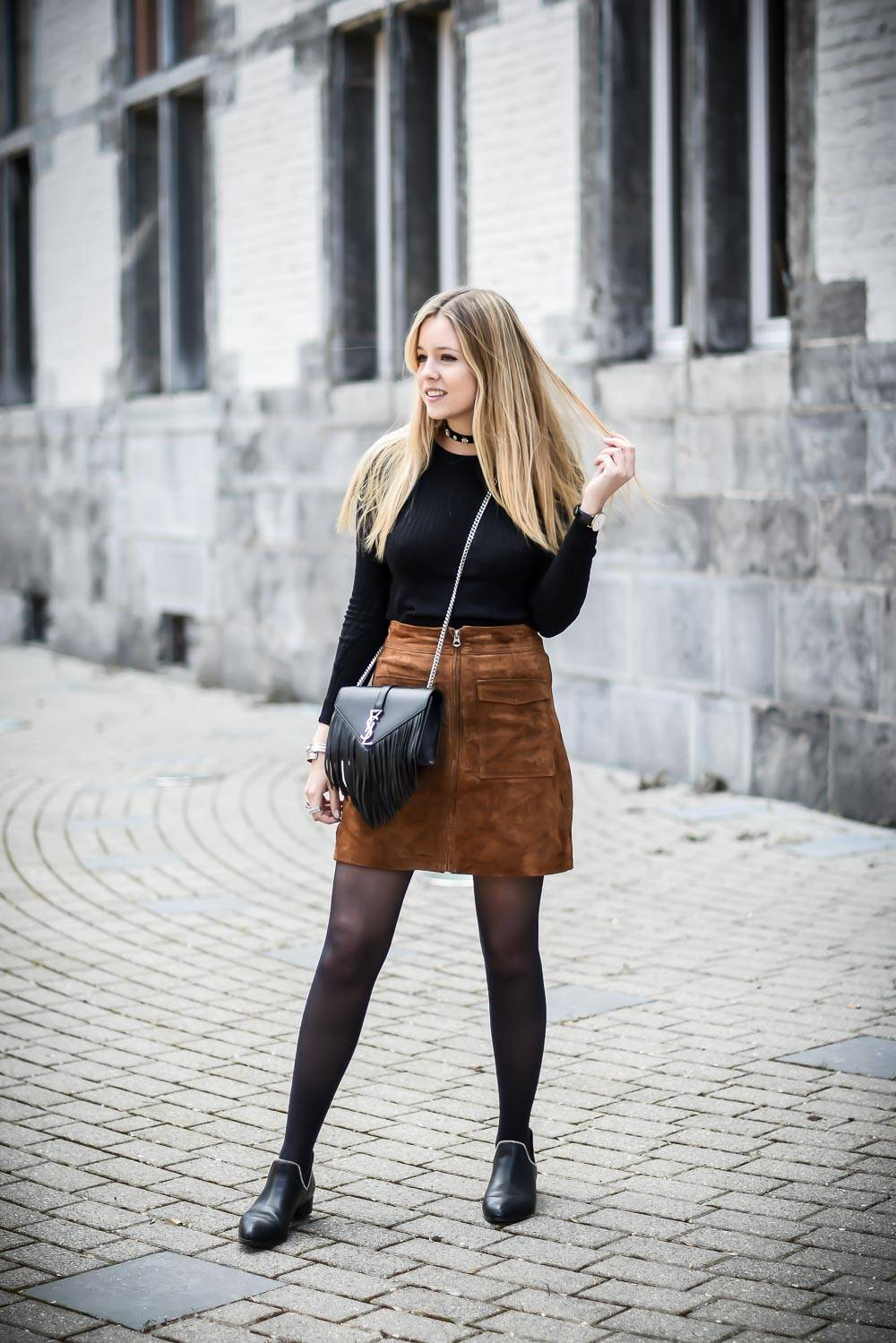 Blog mode jupe en daim - 7