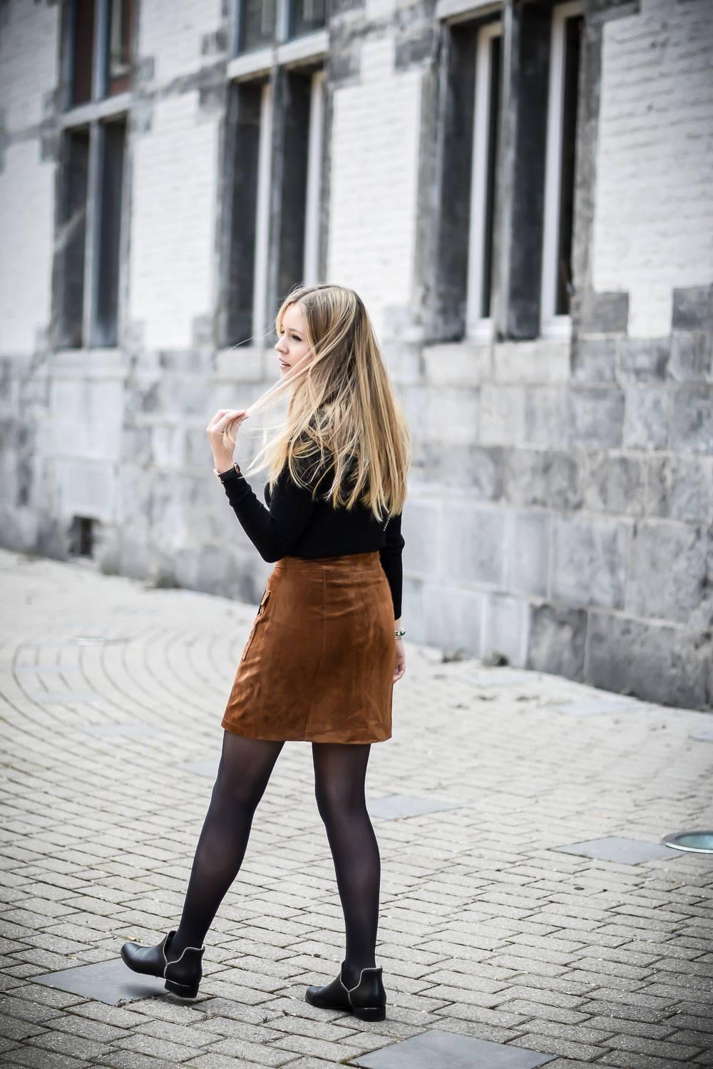Blog mode jupe en daim - 8