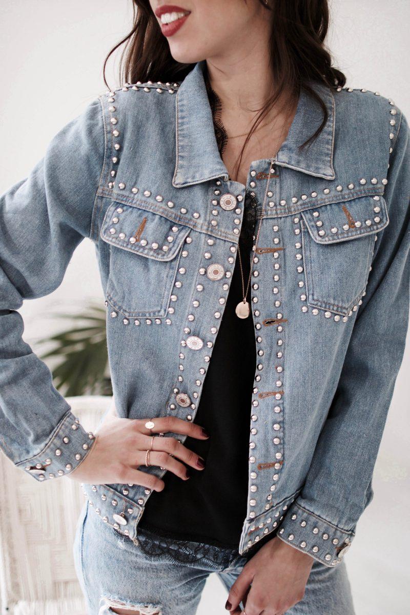 Veste en jeans claire