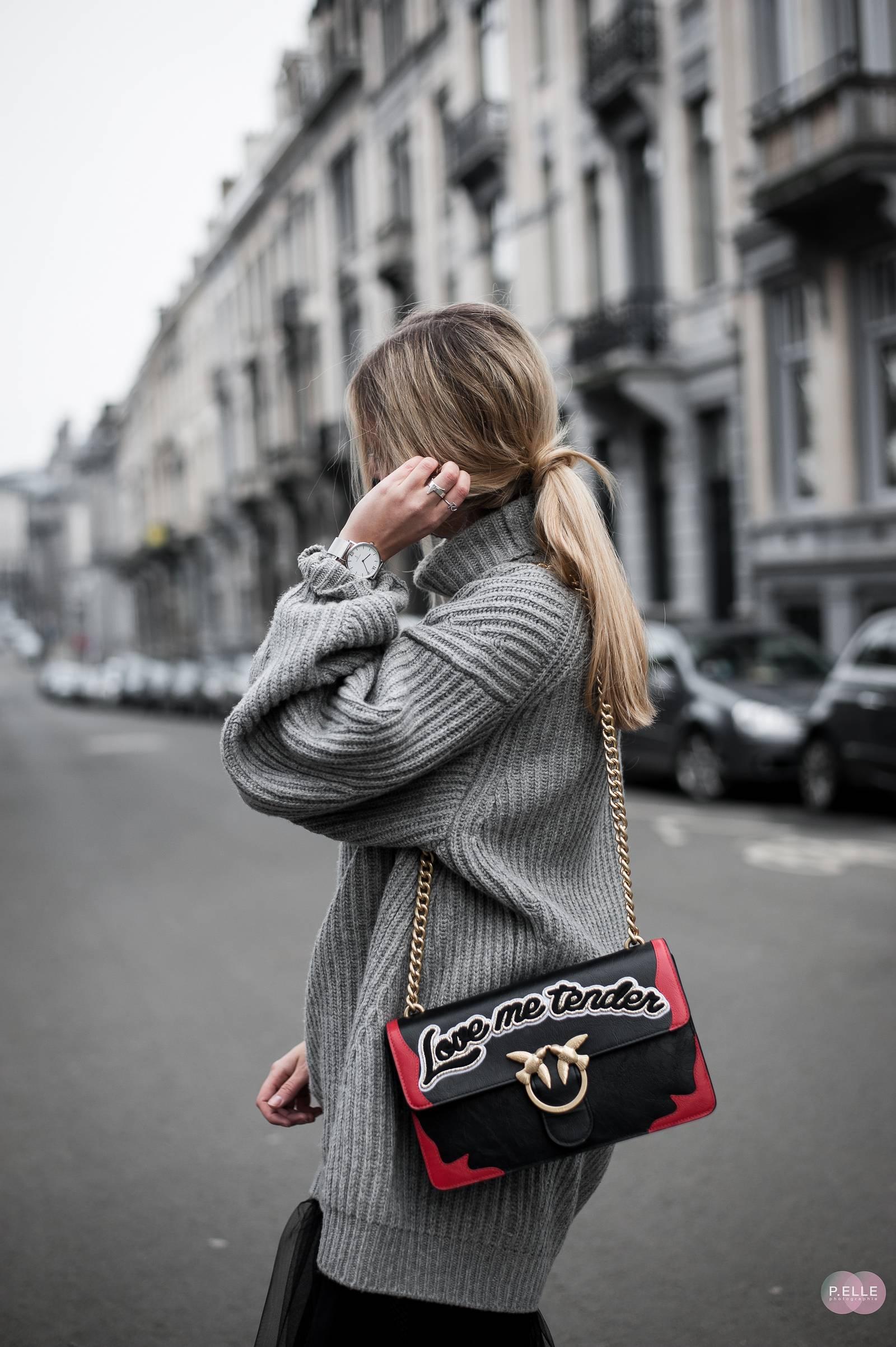 Oversize knit, tutu dress