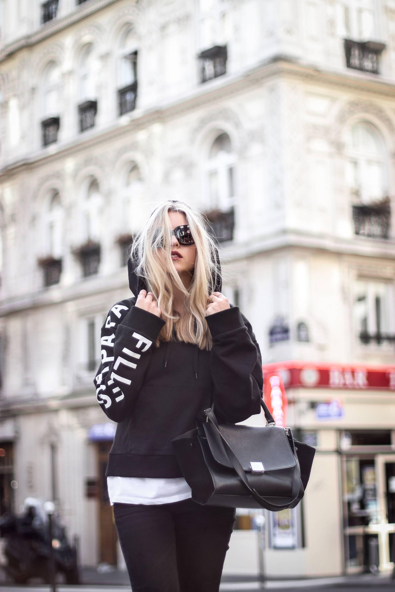 Filles à Papa sweater and Céline bag