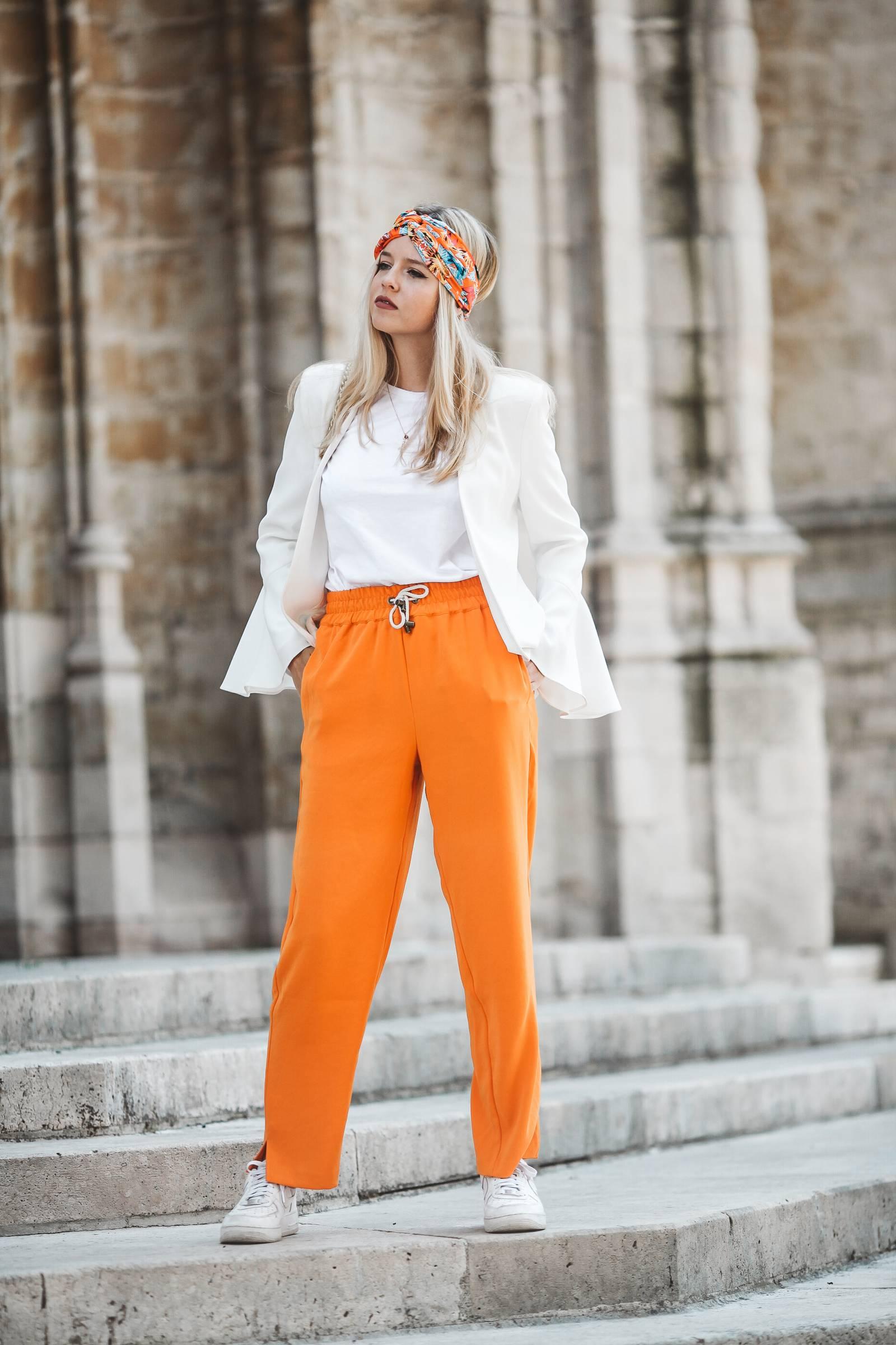 Orange palazzo pants