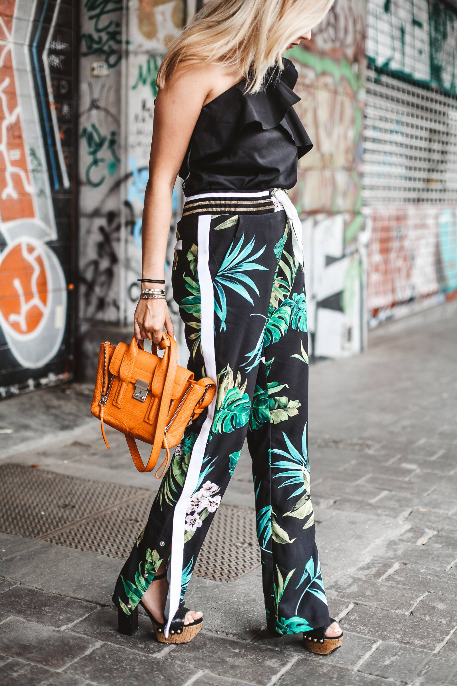 Tropical palazzo pants
