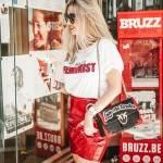 Red vinyl skirt and BELGIAN fries