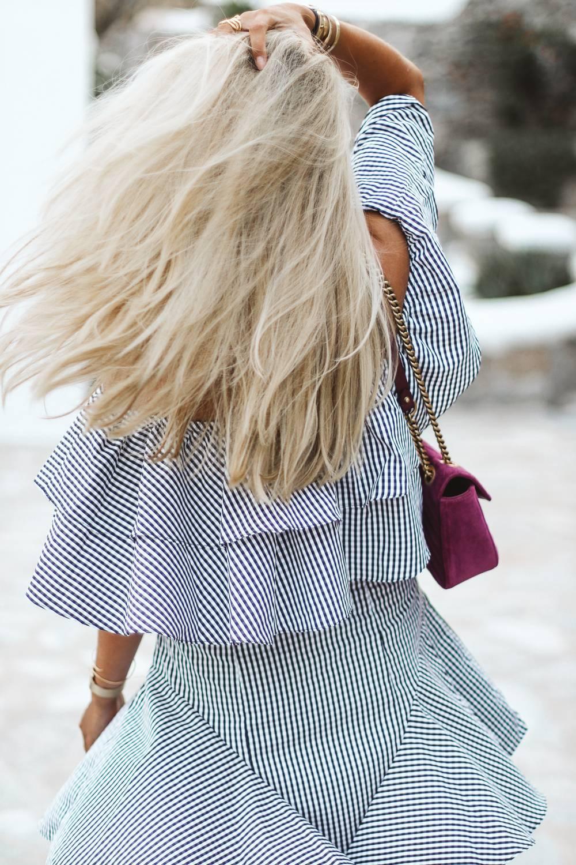 Robe off shoulder / blog mode