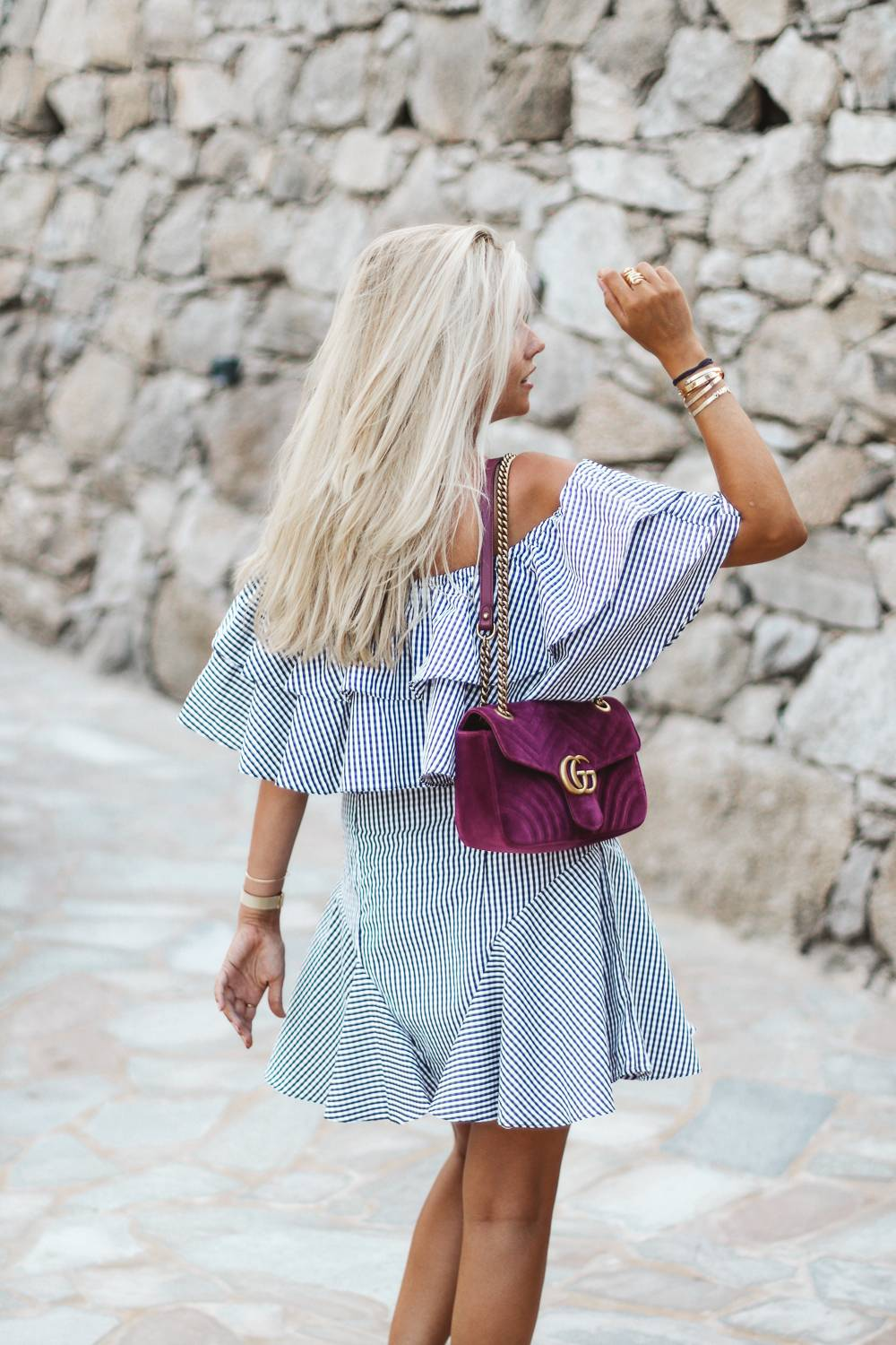 Robe off shoulder / blog mode