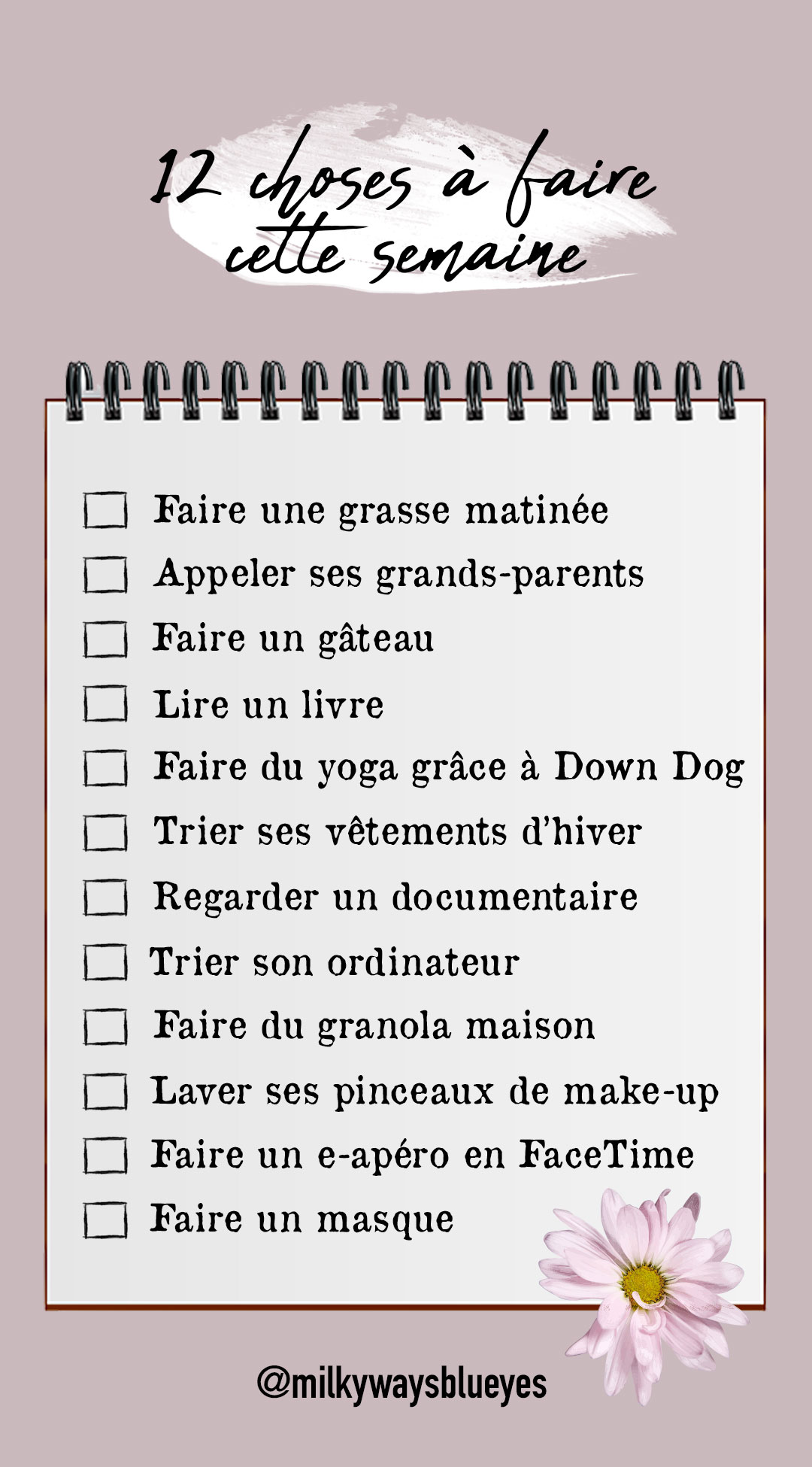 12 choses à faire confinement