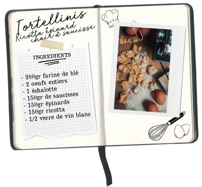 recette tortellinis ricotta épinards