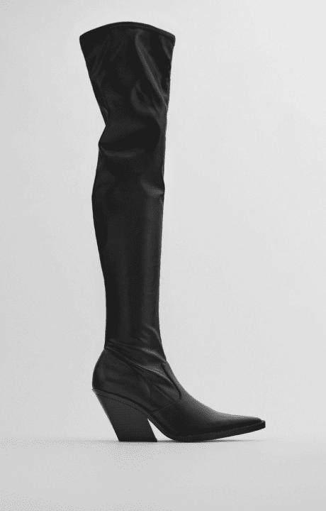 bottes noires zara