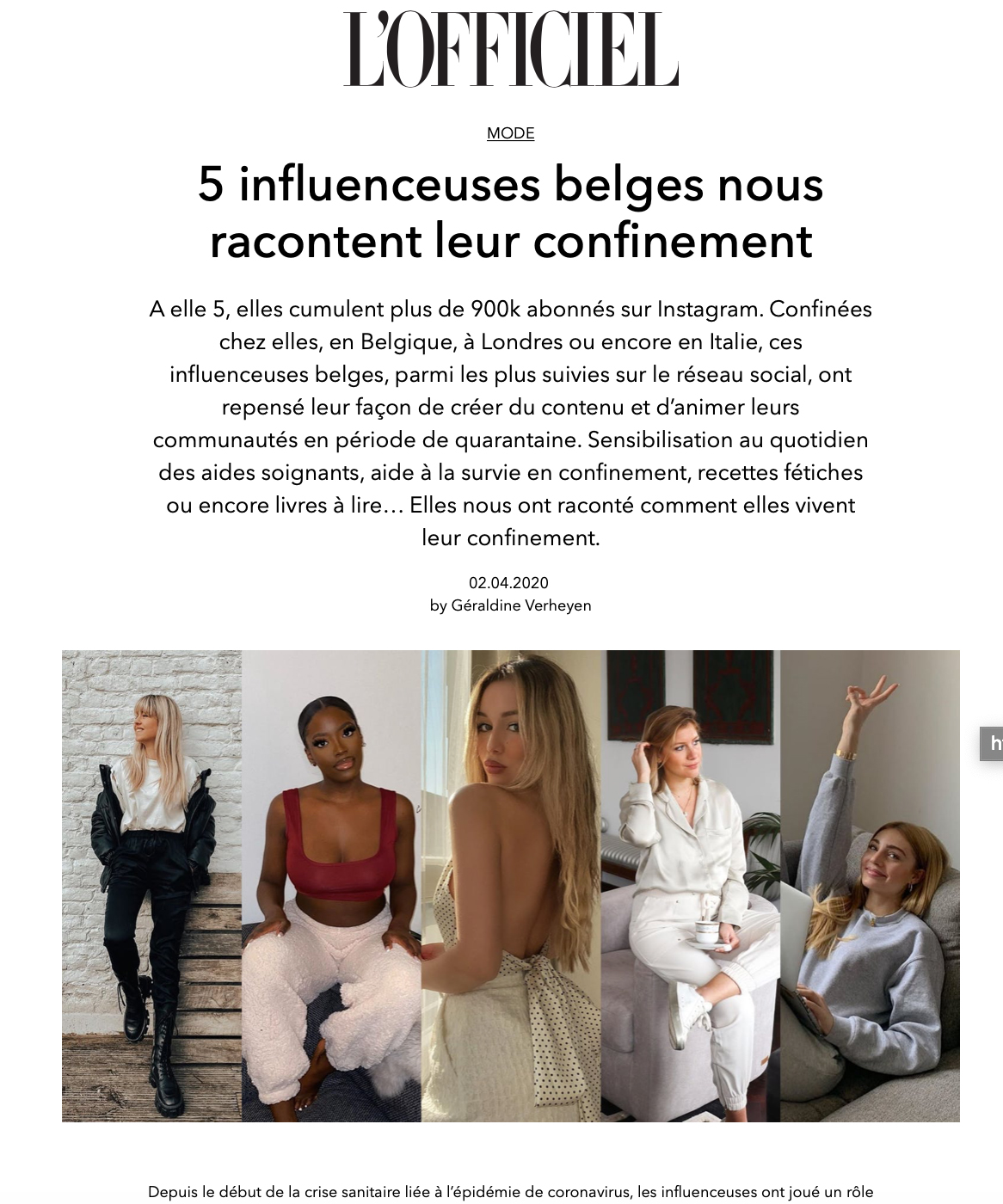 L'officiel belgique
