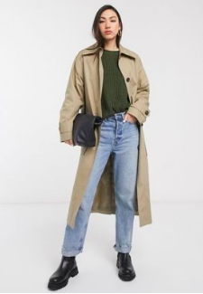 Trench long beige Asos