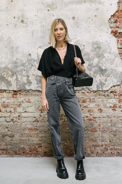 Jeans gris asymétrique - Kure