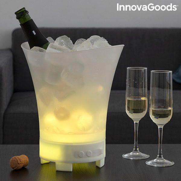 Bac à glaçons LED avec haut-parleur rechargeable Boutique du Geek