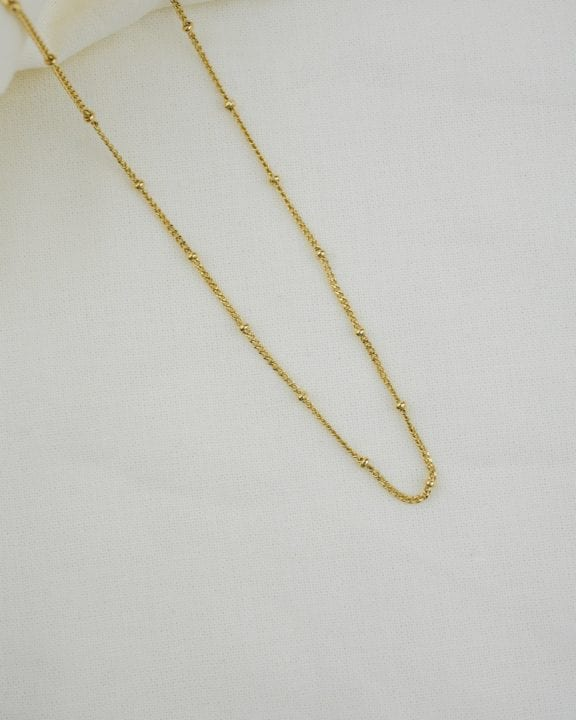 Collier chaîne fine avec boules - Shiness jewelry