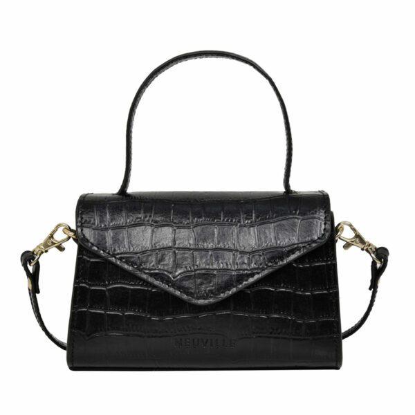 Sac noir croco - Neuville bags