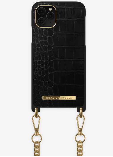 Coque Iphone noir croco collier Ideal