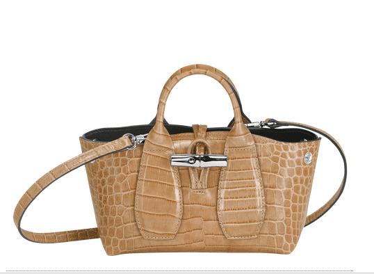 Sac à main roseau mini beige Longchamp