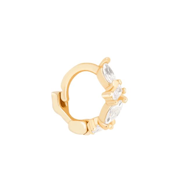 Petit anneau en or avec cristal Astrid and Miyu