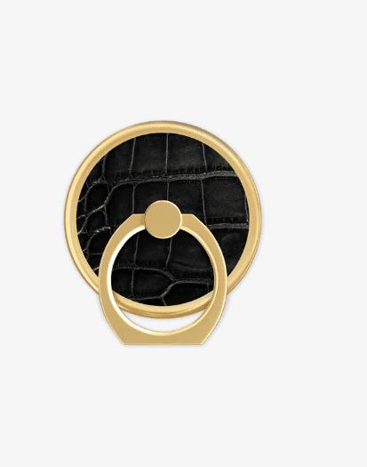 Bague magnétique noir croco pour coque Ideal of Sweden