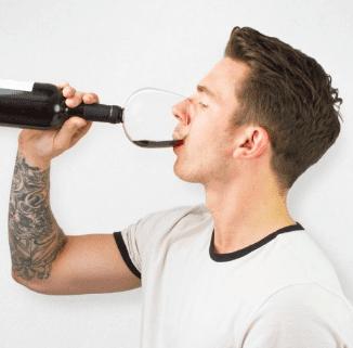 Verre de vin bouchon Super Insolite