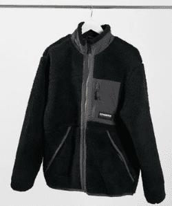 Manteau en polaire noir Asos