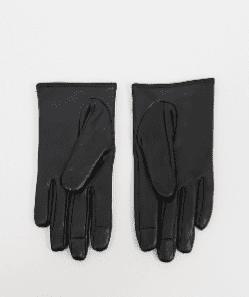 Gants noir en cuir pour écran tactile - Asos