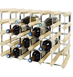 Range bouteilles de vins en bois modulable - amazon