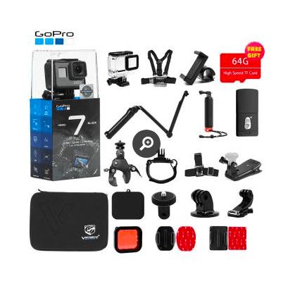 GoPro HERO7 Noir Caméra d'action + Kit d'accessoires de sport Fnac