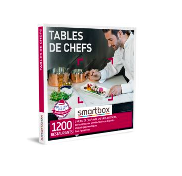 Coffret cadeau Smartbox Tables de chefs Fnac