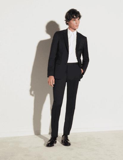 Pantalon de costume noir Sandro homme