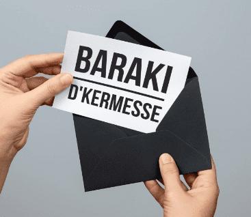 Carte postale Baraki belge une fois