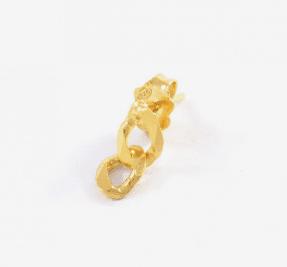 Boucle d'oreille Elvis II chaîne - Aroz Jewelry