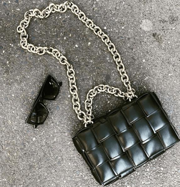 Benetta bag noir avec chaine argentée - My Birdy boutique