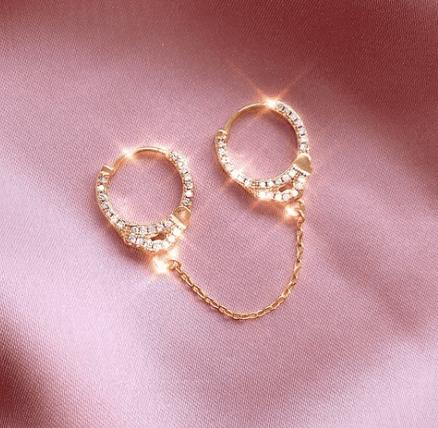 Boucles d'oreilles Menottes - Maison doré