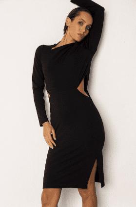 Robe noire asymétrique - Recc Paris
