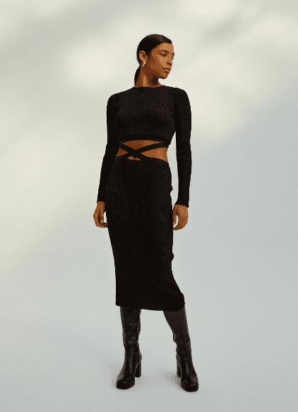 Robe longue noire - Musier Paris