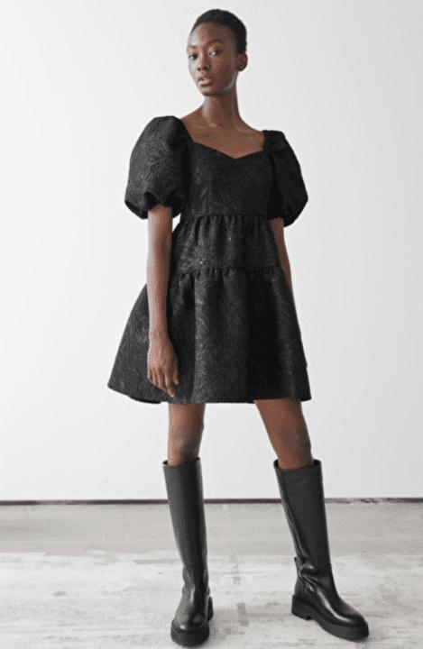 robe noire dentelle &otherstories