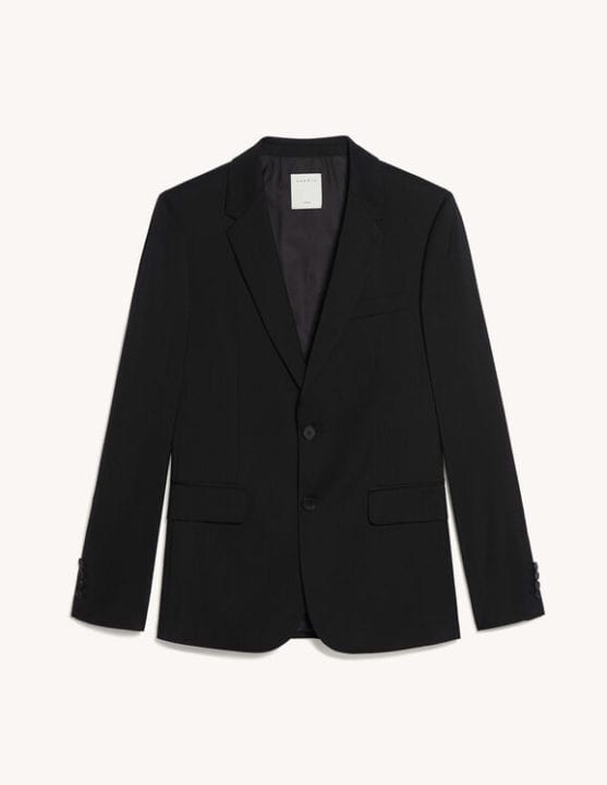 Veste de costume noir Sandro homme