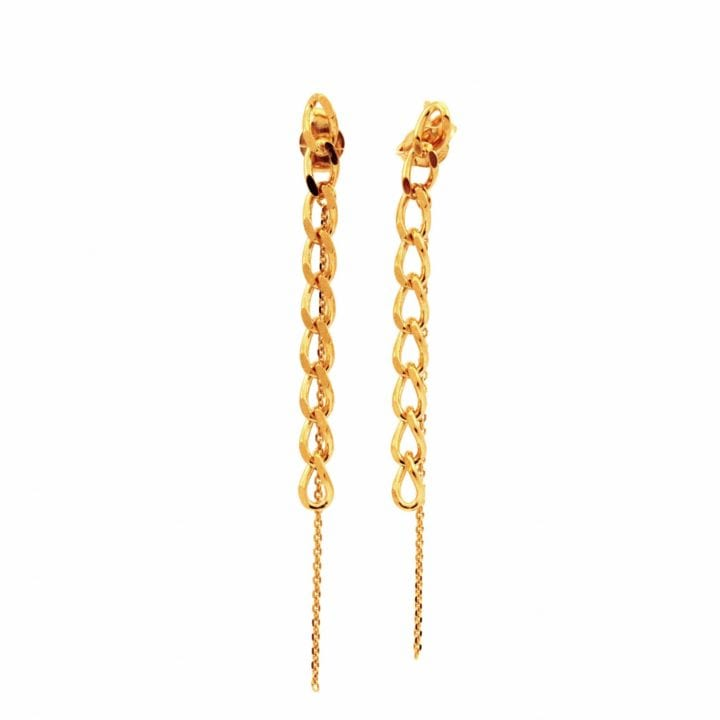 Boucles d'oreilles chaînes pendantes - Lea Rose jewels