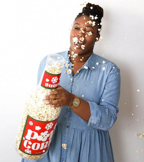 Bouteille de popcorn XXL de Noël l'Avant-gardiste