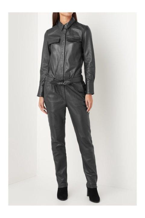 Combinaison en cuir noir - No concept Store