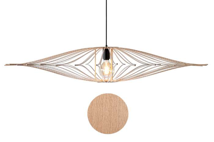 Lumière: suspension en bois clair - Art Maker