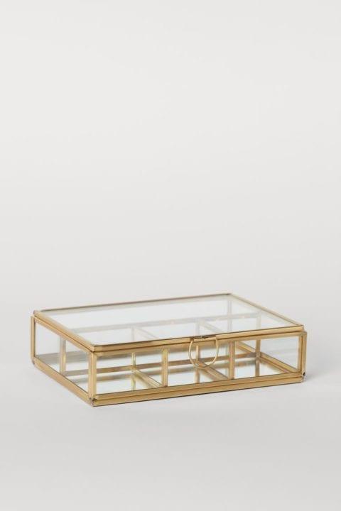 Boîte à bijoux doré H&M