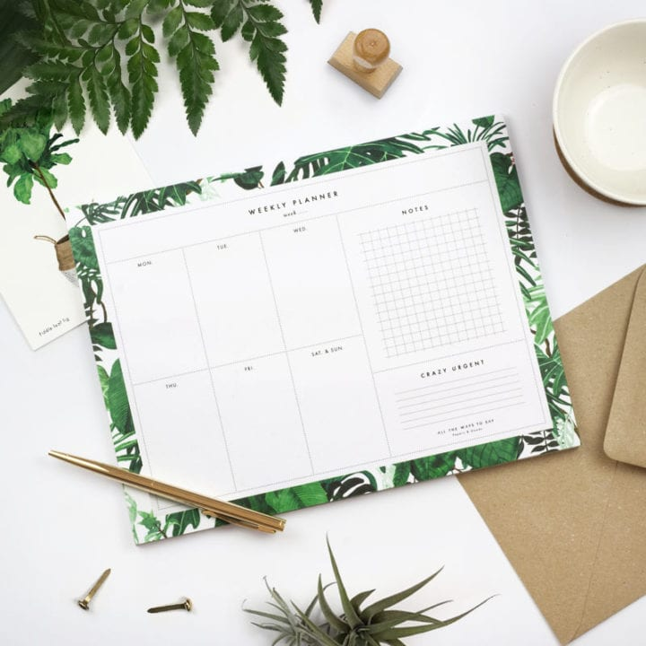 Weekly Planner jungle - One of a kind concept store