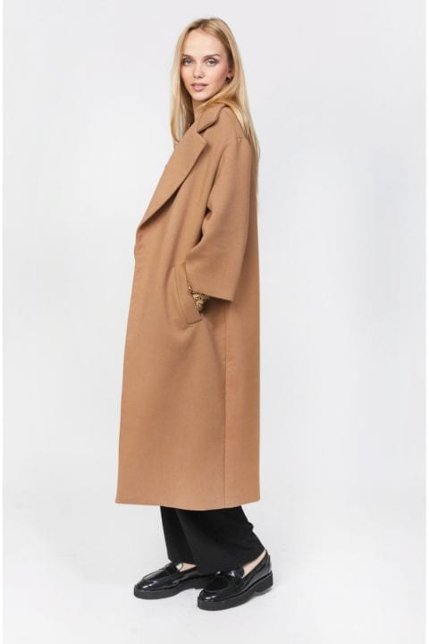 Manteau long camel - No concept Store