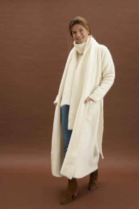 Long gilet creme - Oscar the collection